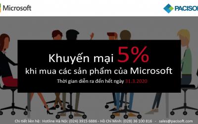 Ưu đãi tuyệt vời: Giảm ngay 5% cho các sản phẩm Microsoft