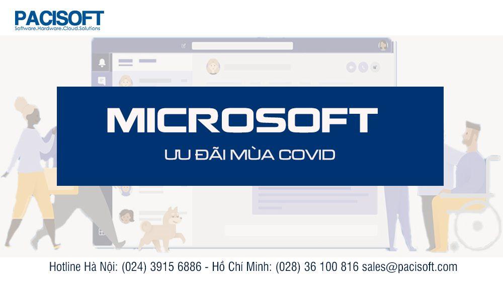 Micosoft - ưu đãi mùa COVID