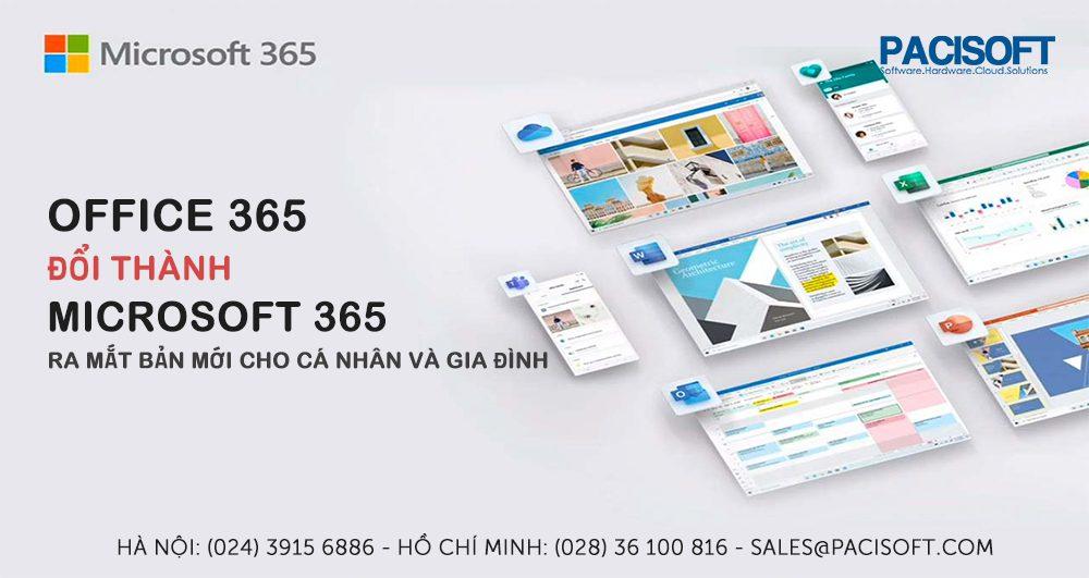 Office 365 thành Microsoft 365