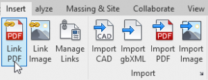 PDF AND RASTER IMAGES LINKING - Revit 2021
