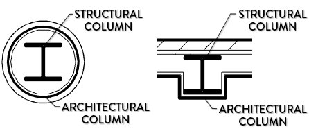 structural -Arhtectural column