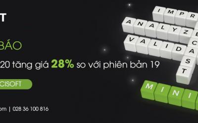 Thông báo bản quyền Minitab 2020 tăng giá 28% so với phiên bản 19