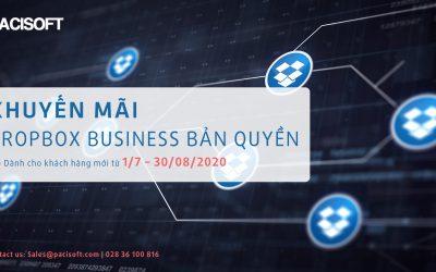 Khuyến mãi Dropbox Business bản quyền đến 30/08/2020