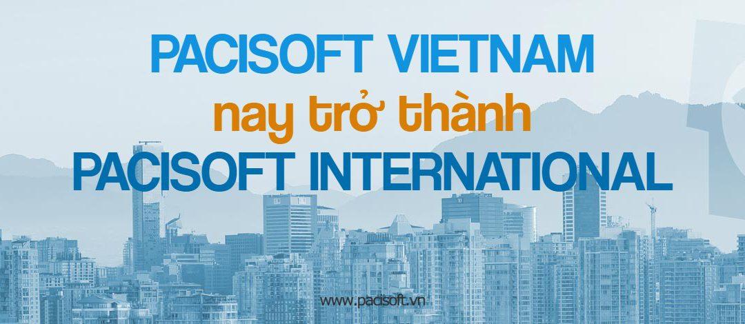 Thông báo PACISOFT Vietnam chuyển sang tên mới