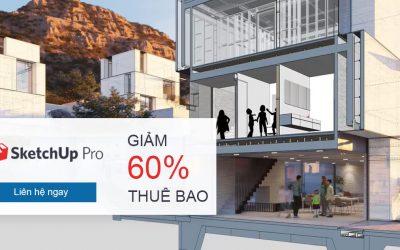 Giảm đến 60% thuê bao SketchUp Pro | Chương trình chuyển đổi với mức giá ưu đãi nhất đến 24/7