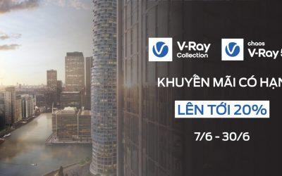 Khuyến mãi mua bản quyền V-Ray 5 and V-Ray Collection đến 30.6.2021