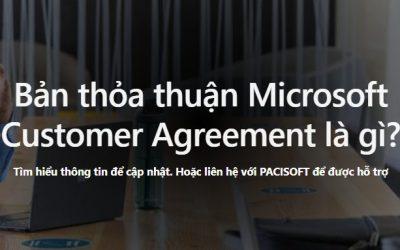 Thỏa thuận Microsoft Customer Agreement là gì?