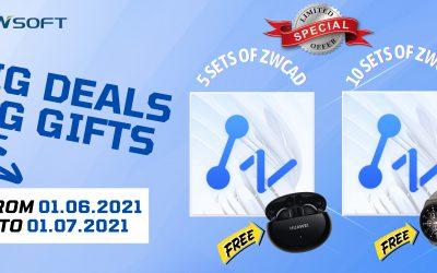 ZWCAD Promotion: Nhận ngay tai nghe hoặc đồng hồ chính hãng đến 1.7.2021