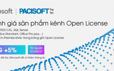 Thông báo quan trọng về việc Microsoft tăng giá sản phẩm kênh Open License